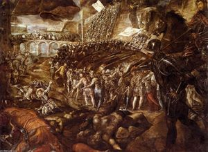 Tintoretto (Jacopo Comin) - The Capture of Parma by Federico II