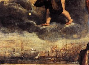 Tiziano Vecellio (Titian) - Doge Antonio Grimani Kneeling Before the Faith (detail)