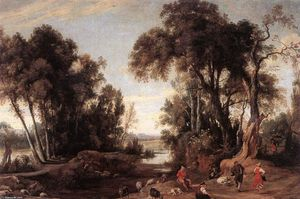 Jan Wildens - Landscape with Shepherds
