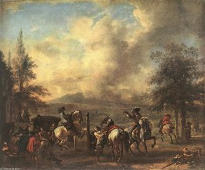 Philips Wouwerman - Riding School