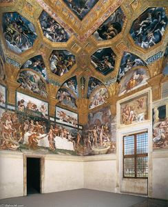 Giulio Romano - View of the Sala di Psiche (north and east walls)