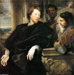 Anthony Van Dyck - George Gage with Two Men