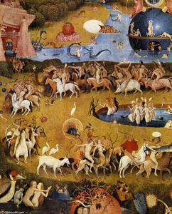 Hieronymus Bosch - Triptych of Garden of Earthly Delights (detail) (47)
