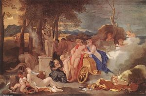 Sébastien Bourdon - Bacchus and Ceres with Nymphs and Satyrs