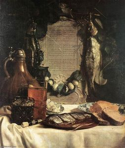 Joseph De Bray - Still-Life in Praise of the Pickled Herring