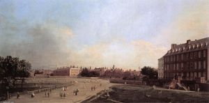 Giovanni Antonio Canal (Canaletto) - London: the Old Horse Guards from St James's Park
