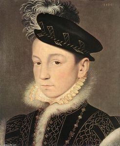 François Clouet - Portrait of King Charles IX of France