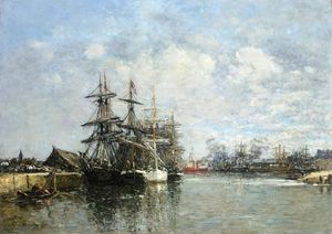 Eugène Louis Boudin - Le Havre, The Boat Basin