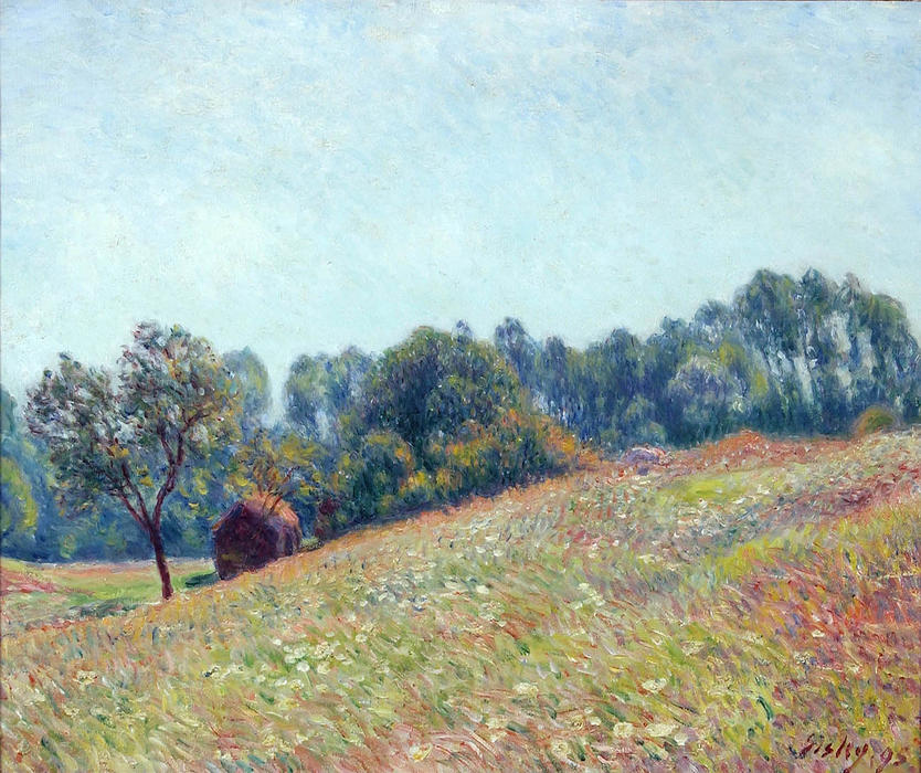 famous painting Le Vallon of Alfred Sisley