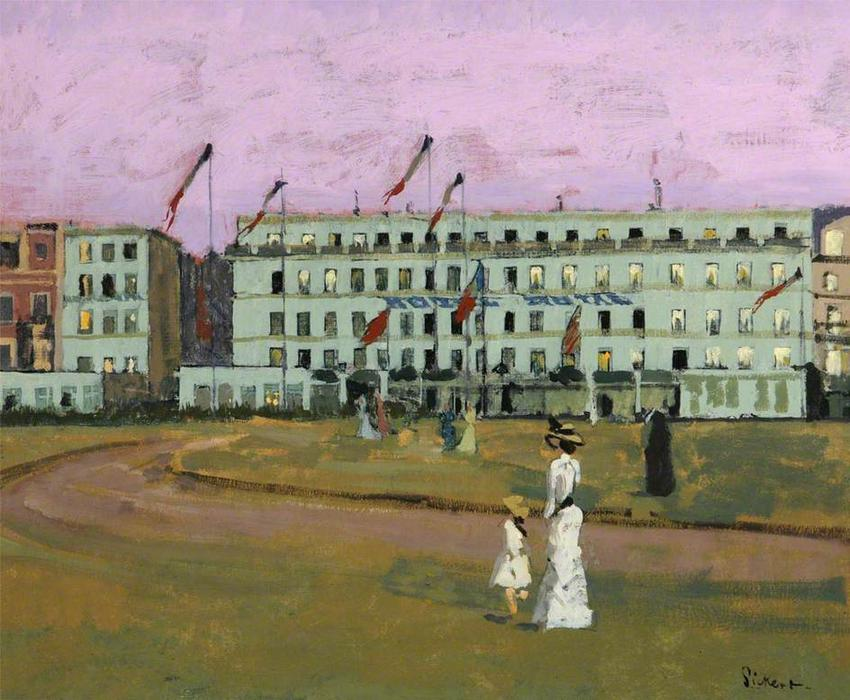 famous painting L'Hotel Royal, Dieppe, France of Walter Richard Sickert