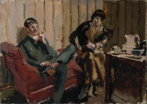 Walter Richard Sickert - The Little Tea Party: Nina Hamnett and Roald Kristian