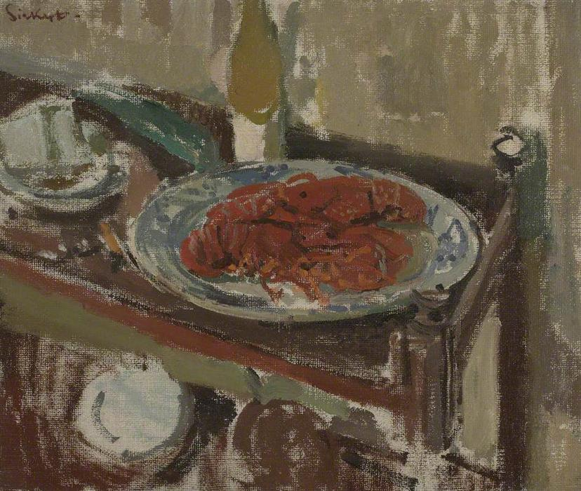 famous painting Lobster on a Tray of Walter Richard Sickert