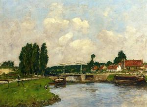 Eugène Louis Boudin - The Lock at Saint-Valery-sur-Somme