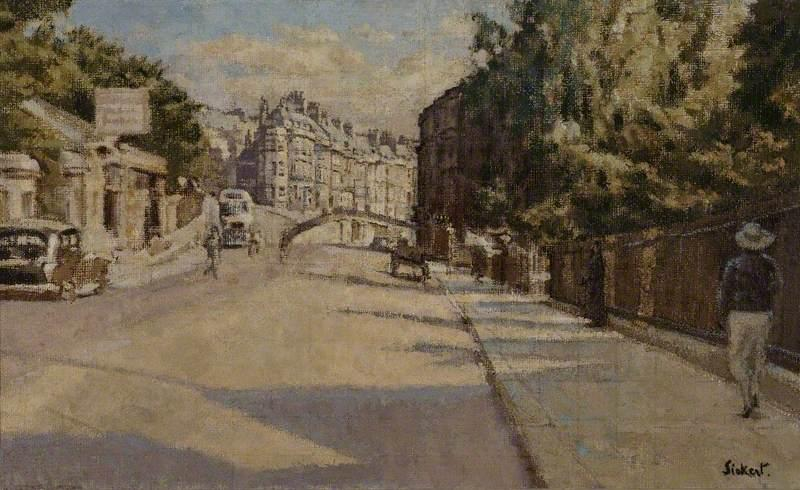 Order Paintings Reproductions Impressionism | London Street, Bath by Walter Richard Sickert | TopImpressionists.com