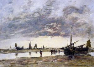 Eugène Louis Boudin - Low Tide at Berck