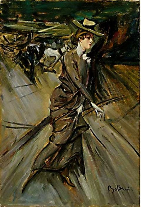 Order Museum Quality Copies Impressionism | La passeggiata by Giovanni Boldini | TopImpressionists.com