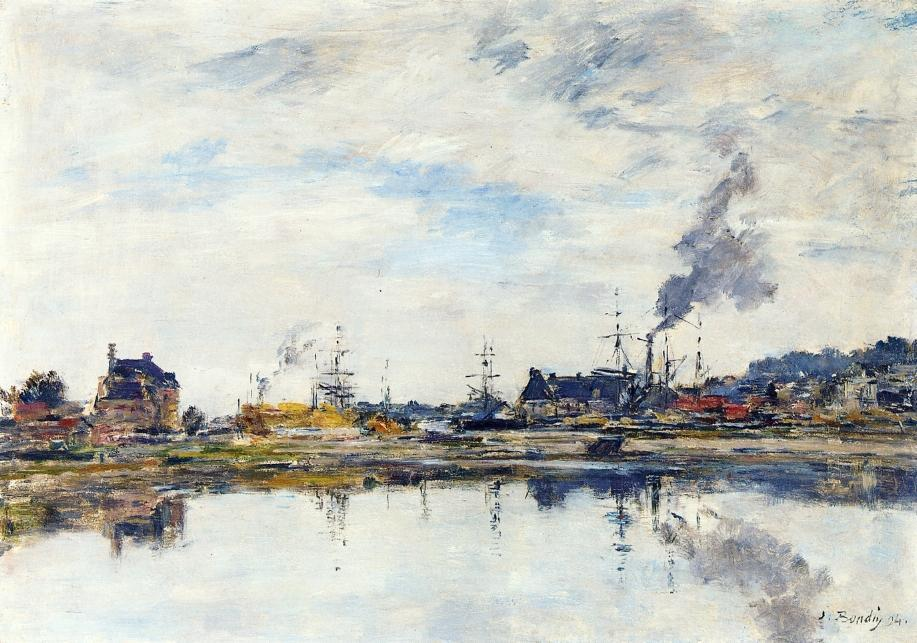 famous painting La retenue a Trouville of Eugène Louis Boudin