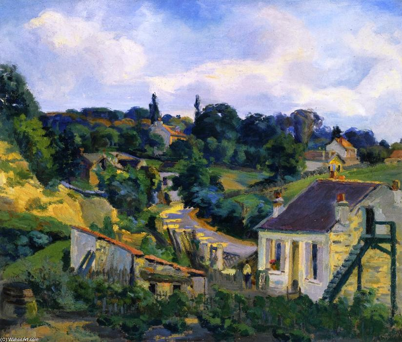 famous painting La Route Tournante of Jean Baptiste Armand Guillaumin