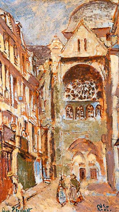 famous painting La rue Picquet, Dieppe, France of Walter Richard Sickert