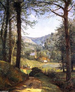 Jasper Francis Cropsey - Luccombe Chine, Isle of Wight