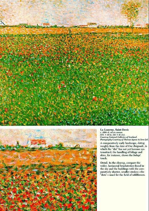 famous painting Lucerne (also known as alfalfa field) of Georges Pierre Seurat