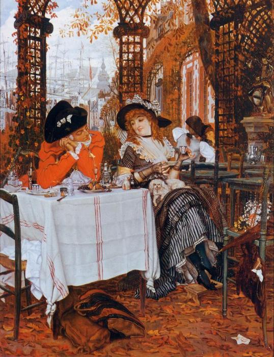 famous painting A Luncheon of James Jacques Joseph Tissot