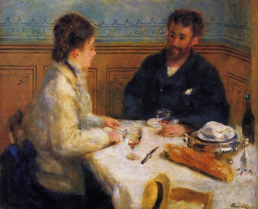 famous painting The Luncheon of Pierre-Auguste Renoir