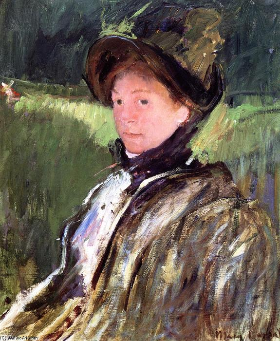 famous painting Lydia Cassatt in a Green Bonnet and a Coat of Mary Stevenson Cassatt