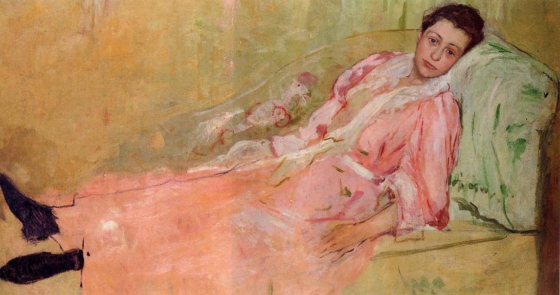 famous painting Lydia Reading on a Divan of Mary Stevenson Cassatt