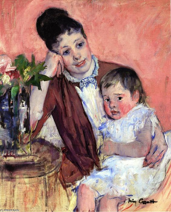 famous painting Madame H. de Fleury and Her Child of Mary Stevenson Cassatt