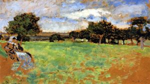 Jean Edouard Vuillard - Madame Hessel Sitting in a Meadow in Normandy