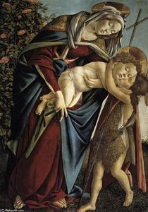 Sandro Botticelli - Madonna and Child and the Young St John the Baptist