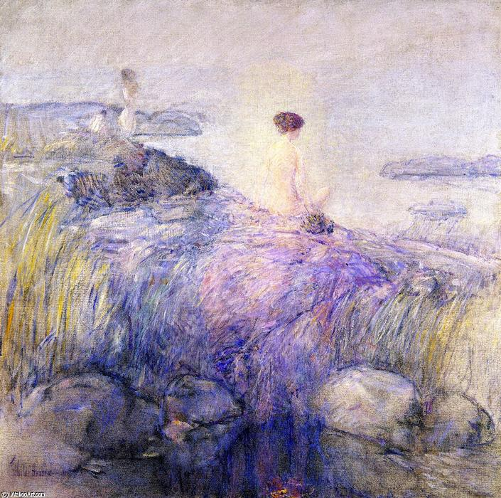 famous painting Maids in the Mist of Frederick Childe Hassam