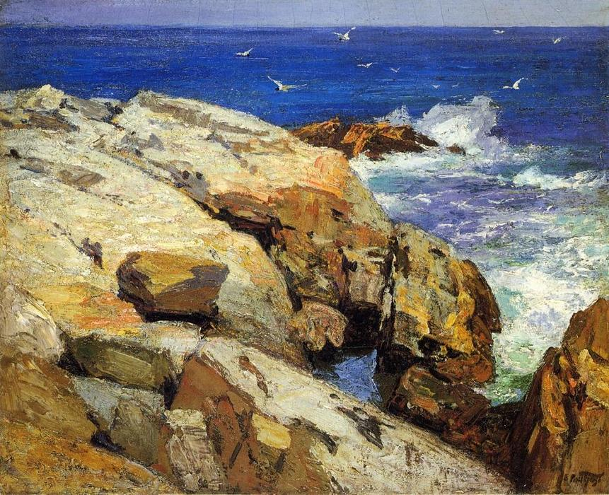 famous painting The Maine Coast of Edward Henry Potthast