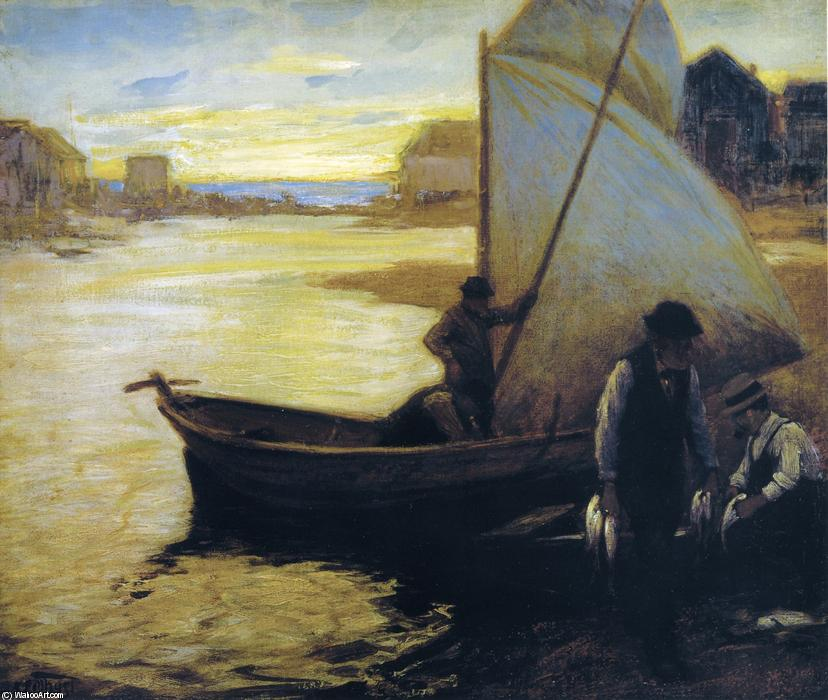 famous painting Maine Fishermen of Edward Henry Potthast