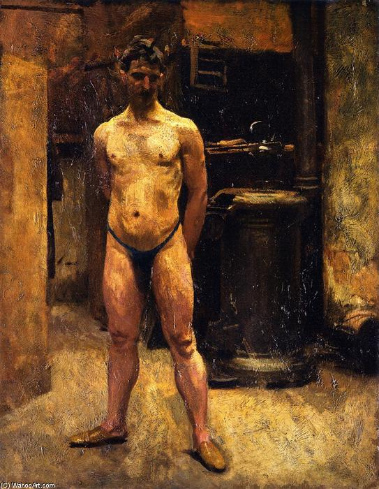 famous painting A Male Model Standing before a Stove of John Singer Sargent