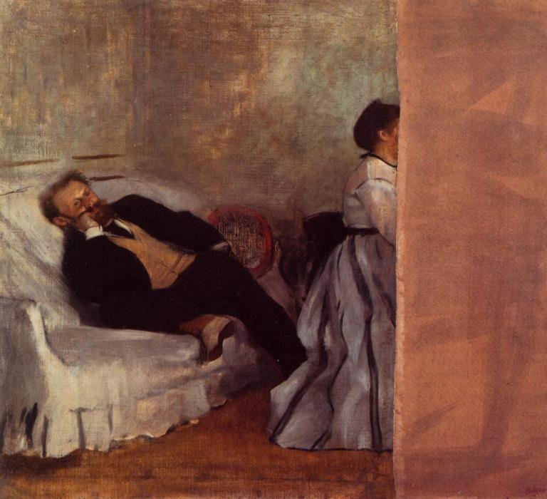 famous painting M. and Mme Edouard Manet of Edgar Degas