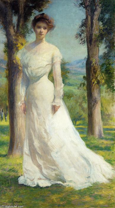 famous painting Margaret Under the Elms of Edmund Charles Tarbell