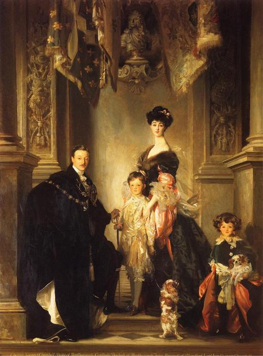 famous painting The Marlborough Family of John Singer Sargent