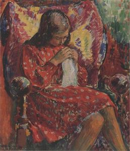 Henri Lebasque - Marthe Sewing