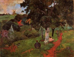 Paul Gauguin - Martinique Landscape (also known as Comings and Goings)