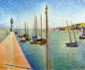 Paul Signac - The Masts, Portrieux, Opus 182