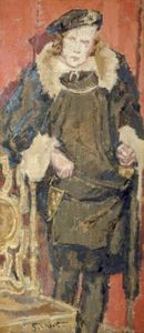 Walter Richard Sickert - Maxton as 'Hamlet'