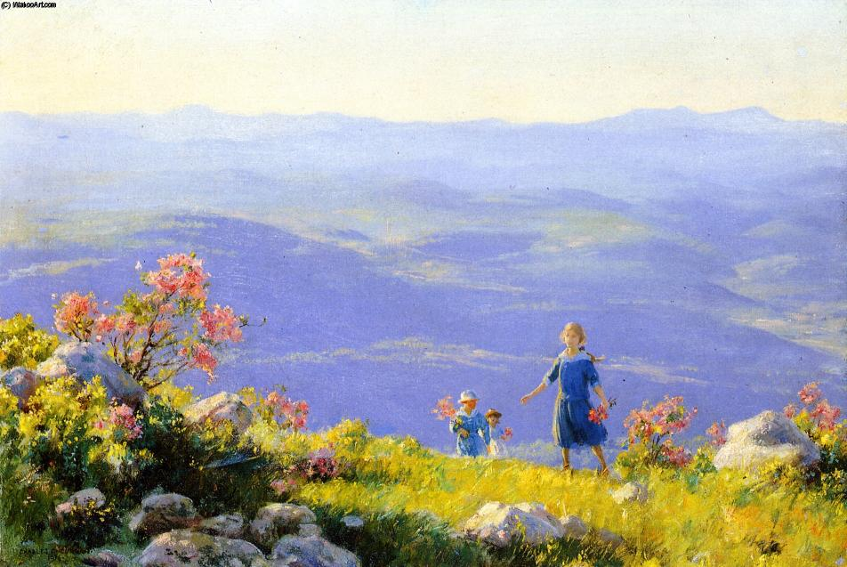 famous painting May Afternoon of Charles Courtney Curran