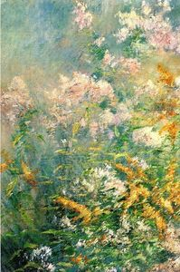 John Henry Twachtman - Meadow Flowers (also known as Golden Rod and Wild Asters)