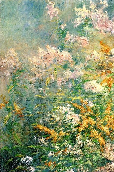 famous painting Meadow Flowers (also known as Golden Rod and Wild Asters) of John Henry Twachtman