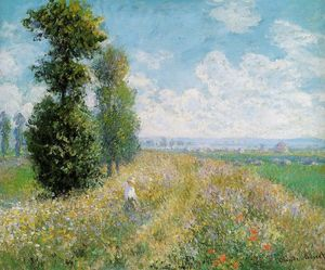 Claude Monet - Meadow with Poplars (also known as Poplars near Argenteuil)