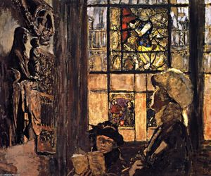 Jean Edouard Vuillard - The Medieval Gallery at the Musée des Arts Décoratifs