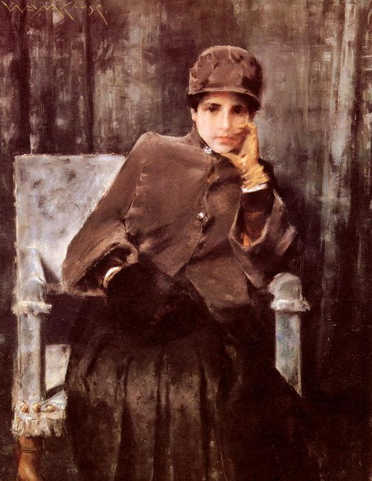 famous painting Meditation of William Merritt Chase