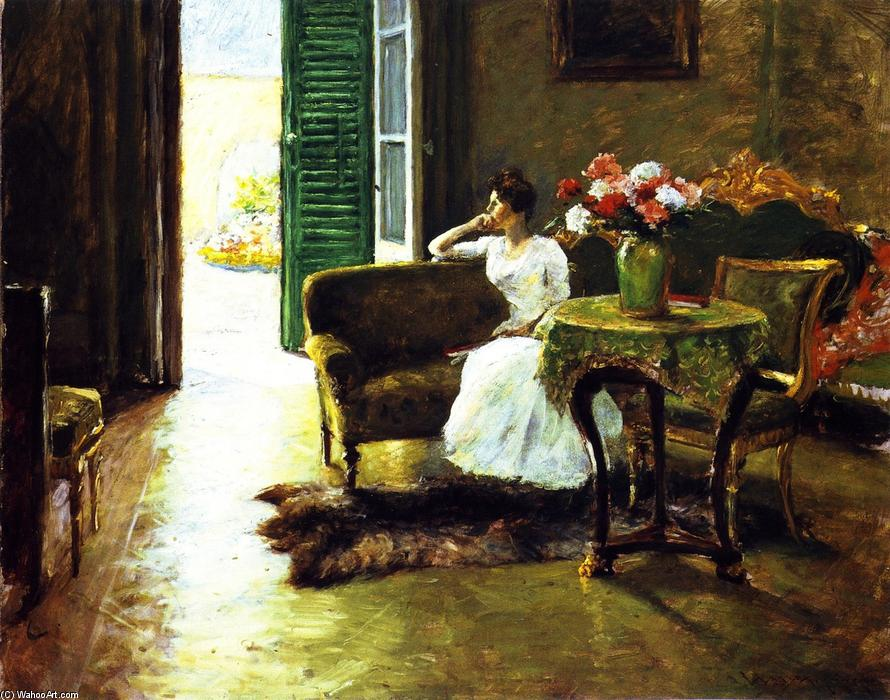 famous painting A Memory: In the Italian Villa of William Merritt Chase